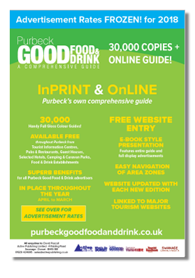 Purbeck Good Food & Drink Rate Card 2017/18